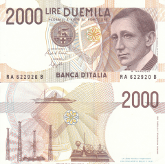 2,000 Lire Italy's Banknote