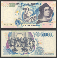 500,000 Lire Italy's Banknote