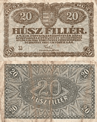 20 Filler Hungary's Banknote