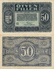 50 Filler Hungary's Banknote
