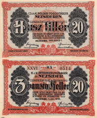 Hungary 20 Filler Banknote, 1916, P-UNLISTED
