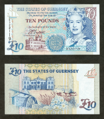 10 Pounds Guernsey's Banknote