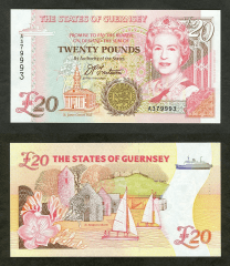 20 Pounds Guernsey's Banknote