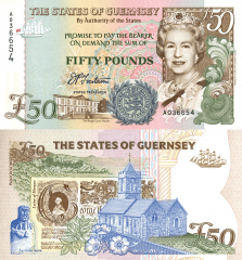 50 Pounds Guernsey's Banknote