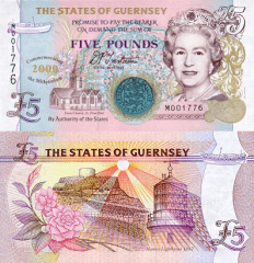 5 Pounds Guernsey's Banknote
