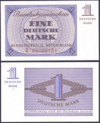 Germany/Federal Republic 1 Deutsche Mark Banknote, 1967, P-28