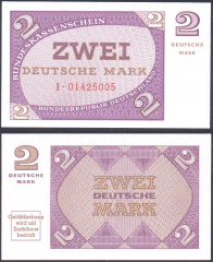 Germany/Federal Republic 2 Deutsche Mark Banknote, 1967, P-29