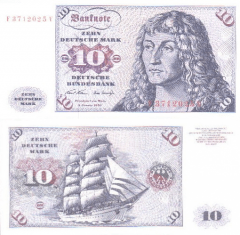 Germany/Federal Republic 10 Deutsche Mark Banknote, 1970, P-31a