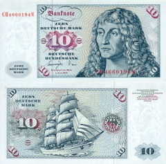 Germany/Federal Republic 10 Deutsche Mark Banknote, 1977, P-31b