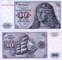 Germany/Federal Republic 10 Deutsche Mark Banknote, 1980, P-31c