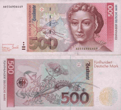 Germany/Federal Republic 500 Deutsche Mark Banknote, 1993, P-43b
