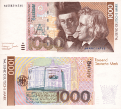 Germany/Federal Republic 1,000 Deutsche Mark Banknote, 1993, P-44b