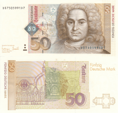 Germany/Federal Republic 50 Deutsche Mark Banknote, 1996, P-45