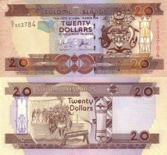 Solomon Islands 20 Dollars Banknote, 2004, P-28a.1