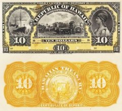 10 Dollars Hawaii's Banknote
