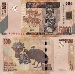 Congo Democratic Republic 5,000 Francs Banknote, 2013, P-102b