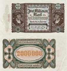 Germany 2 Million Mark Banknote, 1923, P-89a.1
