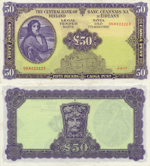 50 Pounds Ireland/Republic's Banknote