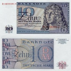 Germany/Federal Republic 10 Deutsche Mark Banknote, 1963, P-29 F