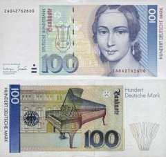 Germany/Federal Republic 100 Deutsche Mark Banknote, 1993, P-41cr