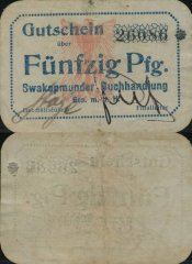 50 Pfennig German South West Africa's Banknote