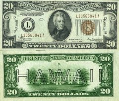 20 Dollars Hawaii's Banknote