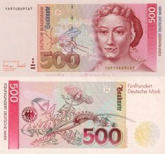 Germany/Federal Republic 500 Deutsche Mark Banknote, 1993, P-43br