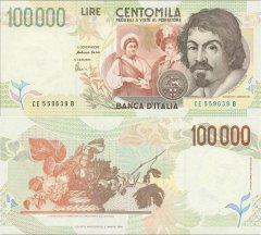 100,000 Lire Italy's Banknote