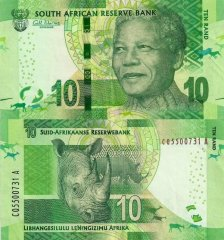 South Africa 10 Rand Banknote, 2014, P-138a