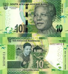 South Africa 10 Rand Banknote, 2018, P-143a