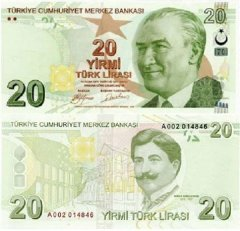 20 Turkish Lira Turkey's Banknote