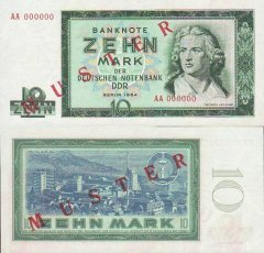10 Mark der DDR Germany/Democratic Republic's Banknote