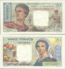 20 Francs New Hebrides's Banknote