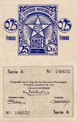 0.25 Francos Tangier's Banknote