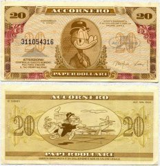20 Fantasy Fantasy Issues's Banknote