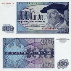 Germany/Federal Republic 100 Deutsche Mark Banknote, 1963, P-29 I
