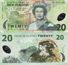 New Zealand 20 Dollars Banknote, 2013, P-187c.1