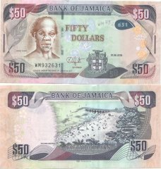 50 Dollars Jamaica's Banknote