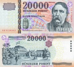 Hungary 20,000 Forint Banknote, 2008, P-201a