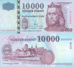 Hungary 10,000 Forint Banknote, 2008, P-200a