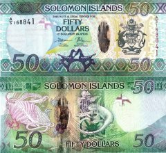 Solomon Islands 50 Dollars Banknote, 2017, P-35a.2