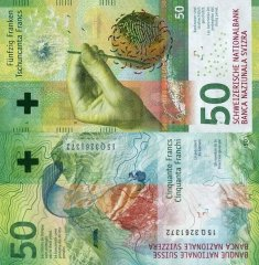 Switzerland 50 Francs Banknote, 2015, P-77b