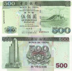 Macao 500 Patacas Banknote, 2003, P-105a