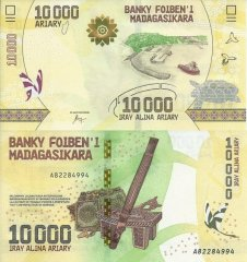 Madagascar 10,000 Ariary Banknote, 2017, P-103a