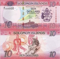 Solomon Islands 10 Dollars Banknote, 2017, P-33a