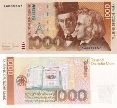 Germany/Federal Republic 1,000 Deutsche Mark Banknote, 1993, P-44br