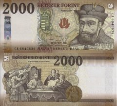 Hungary 2,000 Forint Banknote, 2016, P-204