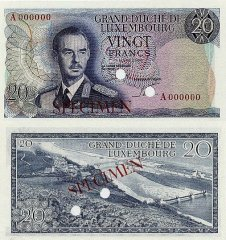 20 Francs Luxembourg's Banknote