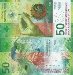 Switzerland 50 Francs Banknote, 2015, P-77c