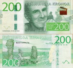 Sweden 200 Kronor Banknote, 2014, P-72